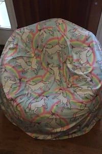 Justice blow up chair with soft unicorn cover WINCHESTER