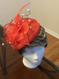 Red fascinator hat Germantown, 20874