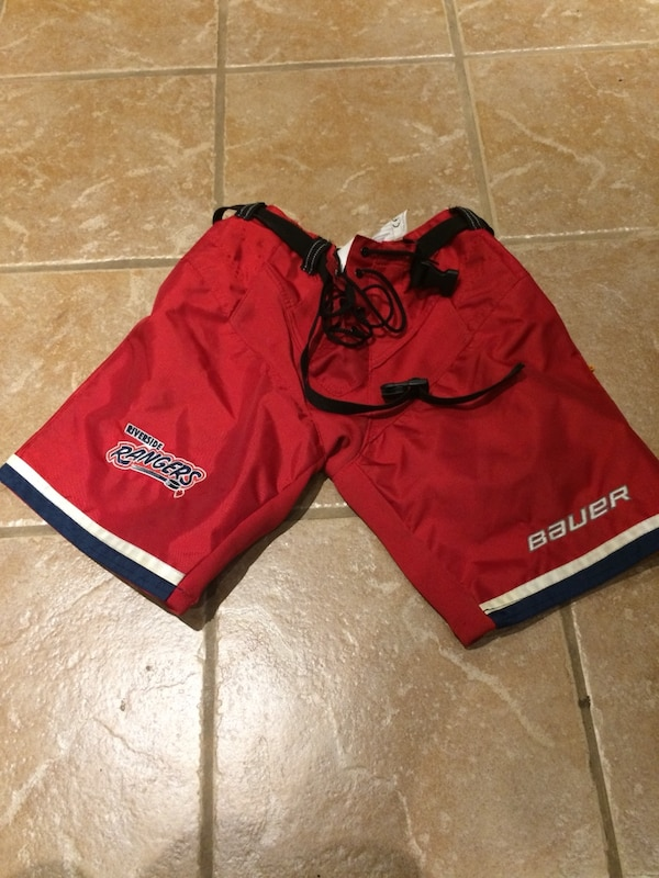 Red bauer shorts
