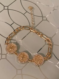"""Coin San Benito Gold Plated Bracelet 7"""""""