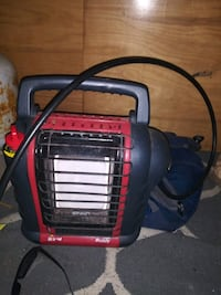 Mr buddy heater with adapter hose works perfect low hrs