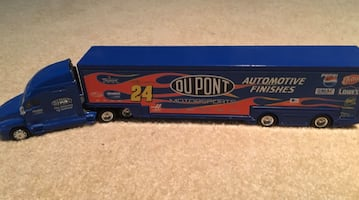 Jeff Gordon toy truck with car