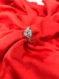Sterling silver weave love knot ring