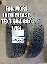 I am selling A set of two _____185/70R14 mud and snow PACEMARK Port Coquitlam