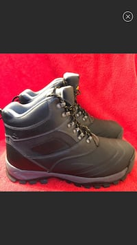 SIZE 13 BLK LEATHER WINTER BOOTS