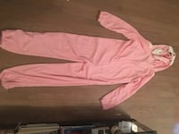 Bluenotes pink bunny overall