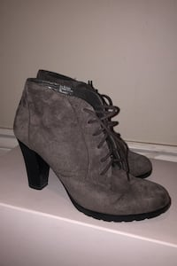 Faux Suede Healed Booties - Size 9 Vaughan, L6A 1V4