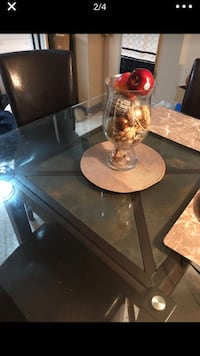 Brown Glass top table