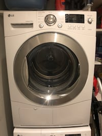 white LG front-load clothes washer New York, 10010