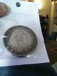 1804 round silver-colored Liberty coin Springfield, 45503