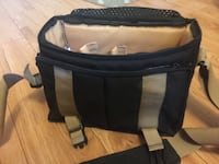 Black and gray leather camera bag Markham, L3S 4N3