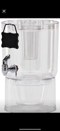 Used Party Beverage Dispenser, 1.75 Gallon, Clear Washington, 20001