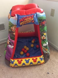 Mickey roadster racer inflatable ball pit with 20 balls Kennett Square, 19348