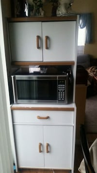 White wooden kitchen cabinet  Sterling