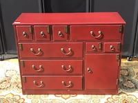 Wine Red Pulaski Asian Accent Chest  Alexandria