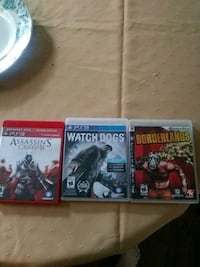 three assorted PS3 game cases London, N5Y