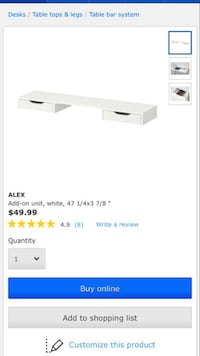 Alex Add-on Unit for a Desk Edmonton, T6W 2V9
