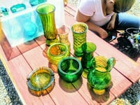 green and yellow glass vases Rio Rancho, 87124
