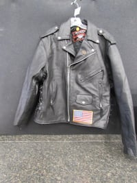 Men's Sz 46 Interstate Leather Harley Coat