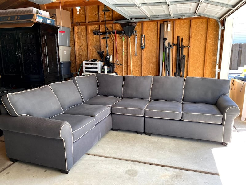 Sectional Couch - Gray 0