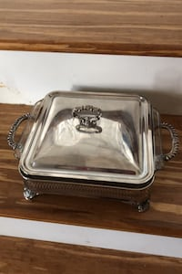 Silver Plated Casserole Dish with Glass Insert Hudson, 03051