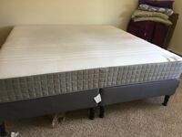 white mattress and black wooden bed frame Saint Paul, 55119