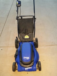 blue and black Kobalt hardly used  electric  mower Lubbock, 79416