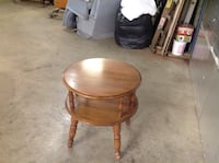 brown wooden round side table Purcellville, 20132