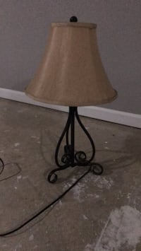 Brown and black table lamp. Mount Airy, 21771