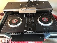 black and gray DJ turntable Langley Park