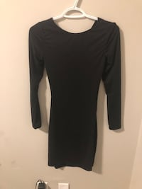 Shein black dress with open back - size xs
