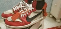 pair of red-and-white Nike basketball shoes San Diego, 92116