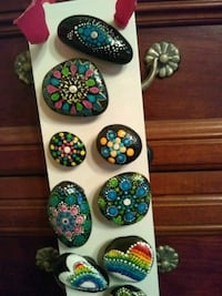 Magnets - Hand painted stones Cypress, 90630