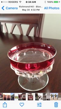 Cranberry sherbet glasses  Antique wine glasses  Richmond Hill, L4E 3T8