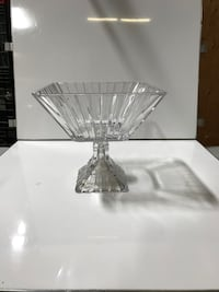 stainless steel base clear glass table lamp