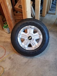 2013 chevy 1/2 ton pu wheels and tires factory set of 4 brand new good year wrangled p265 65r18