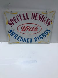 Metal Older Tin Dbl Sided Sign Reddick, 32686