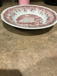 Spode Pink Winter's Eve Serving Bowl Made in England