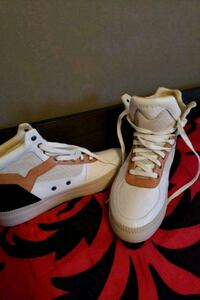 pair of white-and-red Air Jordan shoes Edmonton, T5L