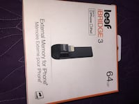 Leef ibridge 3 external memory for iPhone 64gb Winnipeg, R3A 1P8
