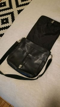 Coach Messenger Bag - Black Genuine Leather
