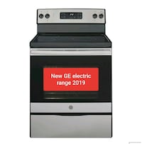 New GE electric range stainless steel 2019 perfect