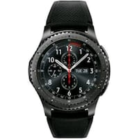 round black chronograph watch with black rubber strap Gaithersburg, 20879