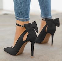 woman Cute Bowknot High Heels