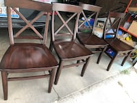 Set of 4 Pottery Barn solid wood chairs Elmwood Park, 60707