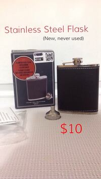Leather Flask: New, never used Toronto, M6G