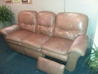 brown leather 3-seat sofa Perrysville, 44864