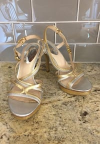 STUNNING! MICHEAL KORS  Leather Uppers Open Toe High Heels-6.5
