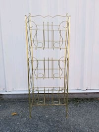 Vinyl Record Rack/Shelf, Gold metal wire