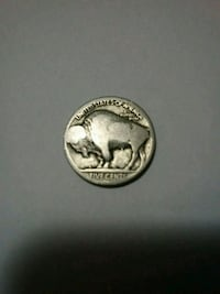 Indian head/Buffalo nickle from unknown year in wo The Bronx, 10466